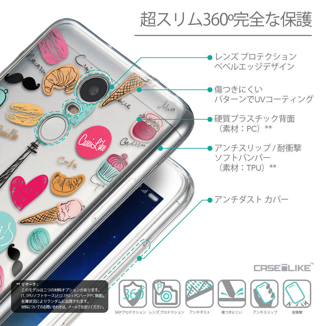 Details in Japanese - CASEiLIKE Xiaomi Redmi Note 3 back cover Paris Holiday 3904