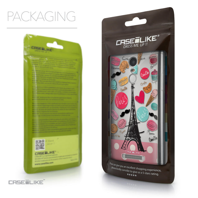Packaging - CASEiLIKE Xiaomi Redmi Note 3 back cover Paris Holiday 3904