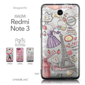 Collection - CASEiLIKE Xiaomi Redmi Note 3 back cover Paris Holiday 3907
