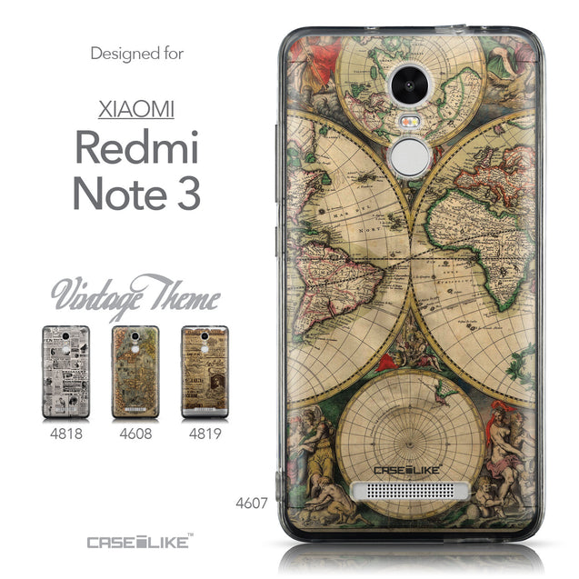 Collection - CASEiLIKE Xiaomi Redmi Note 3 back cover World Map Vintage 4607