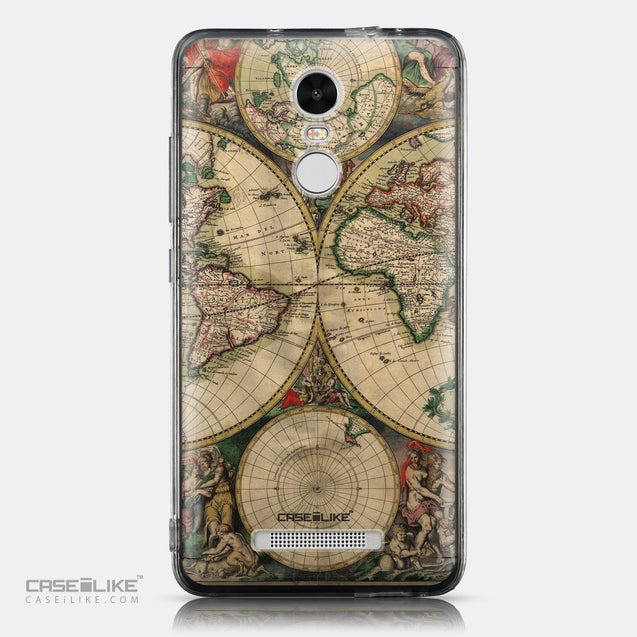 CASEiLIKE Xiaomi Redmi Note 3 back cover World Map Vintage 4607