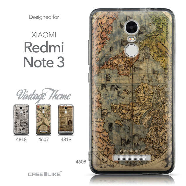 Collection - CASEiLIKE Xiaomi Redmi Note 3 back cover World Map Vintage 4608