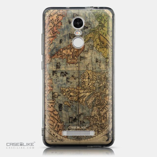 CASEiLIKE Xiaomi Redmi Note 3 back cover World Map Vintage 4608