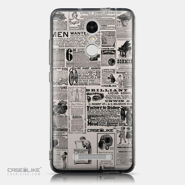 CASEiLIKE Xiaomi Redmi Note 3 back cover Vintage Newspaper Advertising 4818