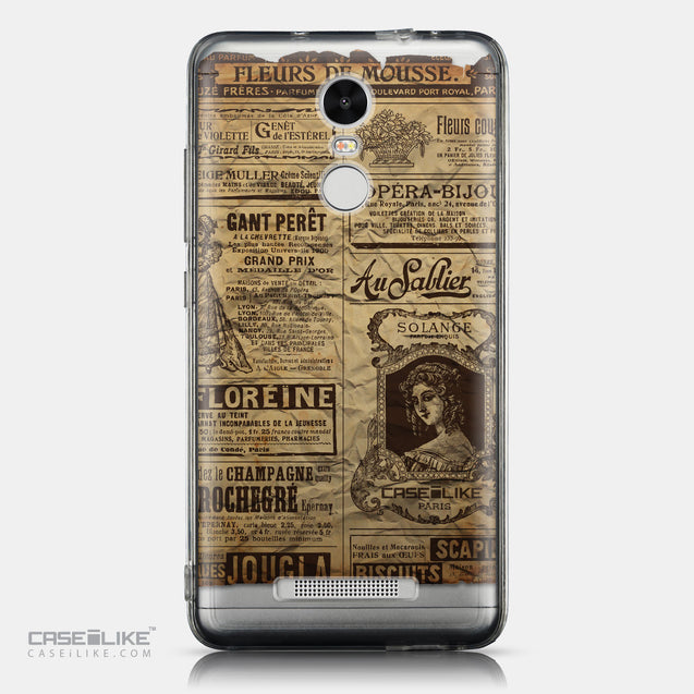 CASEiLIKE Xiaomi Redmi Note 3 back cover Vintage Newspaper Advertising 4819