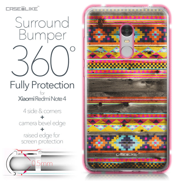 Xiaomi Redmi Note 4 case Indian Tribal Theme Pattern 2048 Bumper Case Protection | CASEiLIKE.com