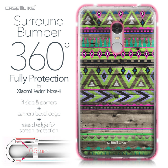 Xiaomi Redmi Note 4 case Indian Tribal Theme Pattern 2049 Bumper Case Protection | CASEiLIKE.com