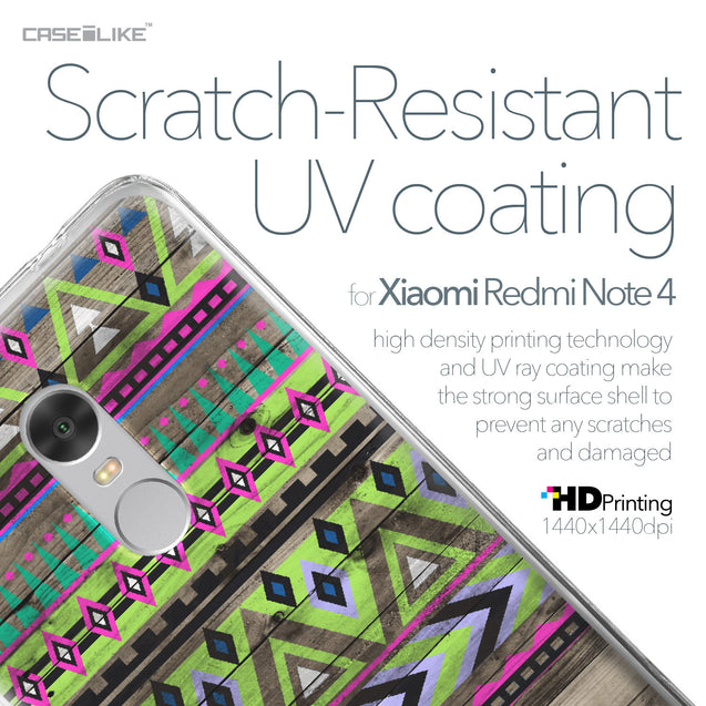 Xiaomi Redmi Note 4 case Indian Tribal Theme Pattern 2049 with UV-Coating Scratch-Resistant Case | CASEiLIKE.com