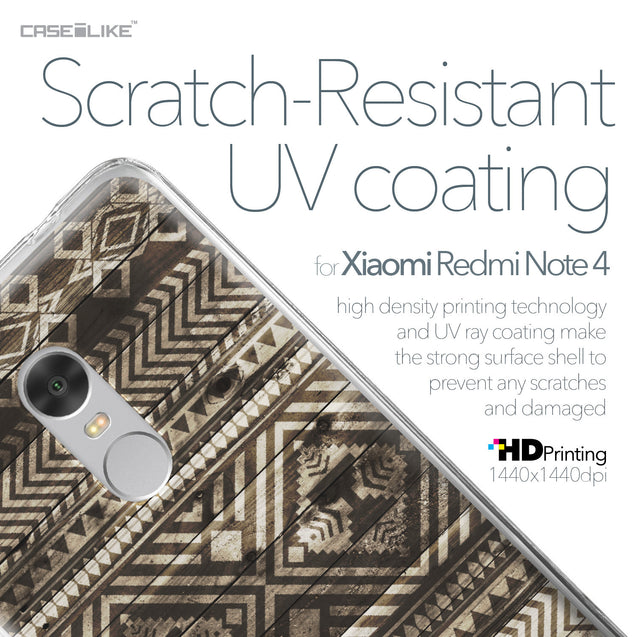 Xiaomi Redmi Note 4 case Indian Tribal Theme Pattern 2050 with UV-Coating Scratch-Resistant Case | CASEiLIKE.com