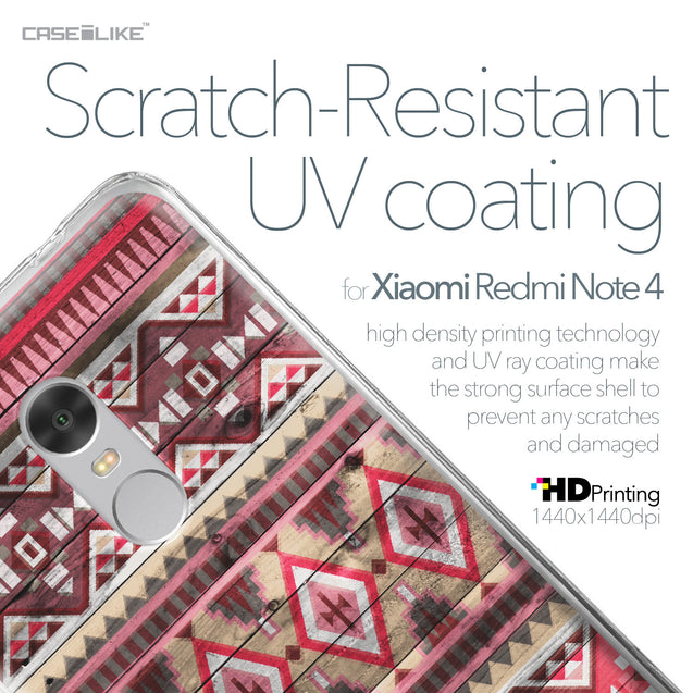 Xiaomi Redmi Note 4 case Indian Tribal Theme Pattern 2057 with UV-Coating Scratch-Resistant Case | CASEiLIKE.com