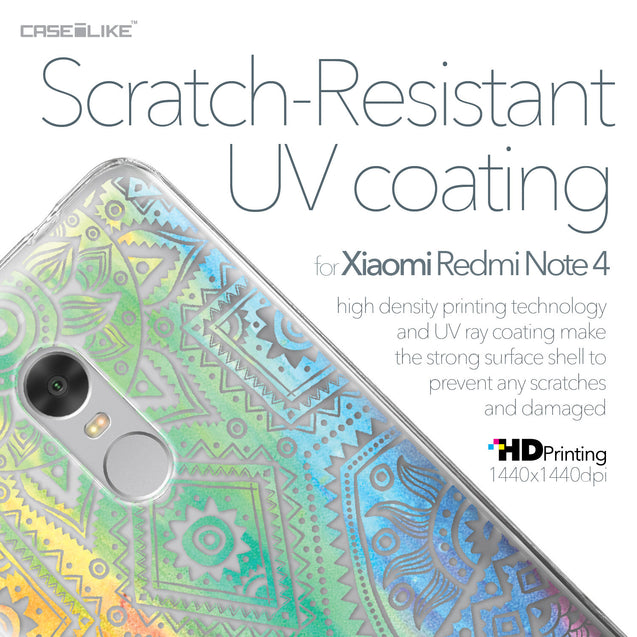 Xiaomi Redmi Note 4 case Indian Line Art 2064 with UV-Coating Scratch-Resistant Case | CASEiLIKE.com