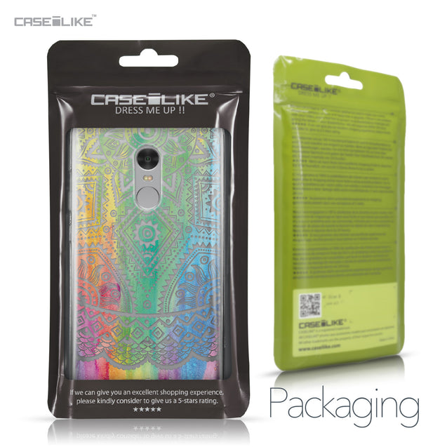 Xiaomi Redmi Note 4 case Indian Line Art 2064 Retail Packaging | CASEiLIKE.com