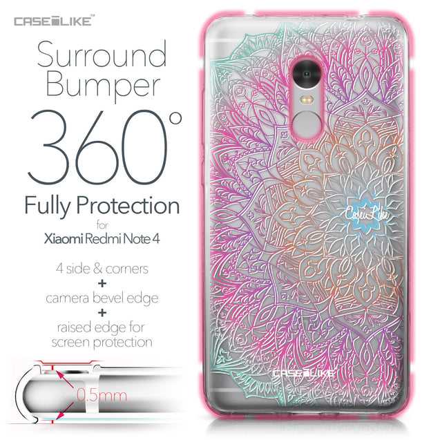 Xiaomi Redmi Note 4 case Mandala Art 2090 Bumper Case Protection | CASEiLIKE.com