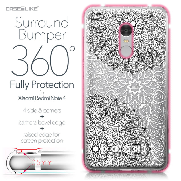 Xiaomi Redmi Note 4 case Mandala Art 2093 Bumper Case Protection | CASEiLIKE.com