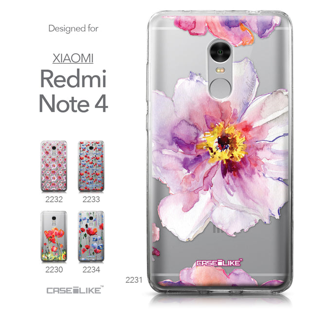 Xiaomi Redmi Note 4 case Watercolor Floral 2231 Collection | CASEiLIKE.com