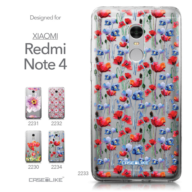 Xiaomi Redmi Note 4 case Watercolor Floral 2233 Collection | CASEiLIKE.com