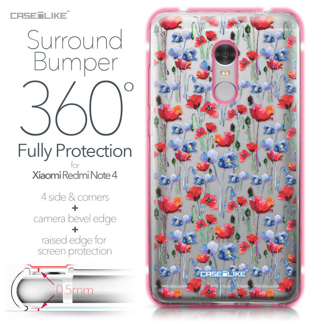 Xiaomi Redmi Note 4 case Watercolor Floral 2233 Bumper Case Protection | CASEiLIKE.com