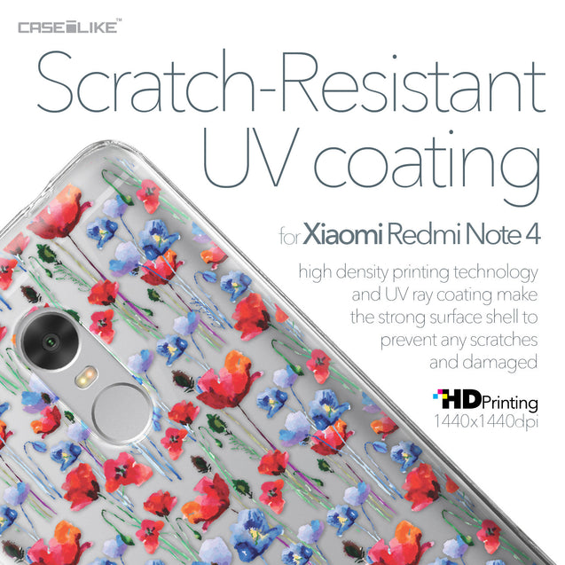 Xiaomi Redmi Note 4 case Watercolor Floral 2233 with UV-Coating Scratch-Resistant Case | CASEiLIKE.com