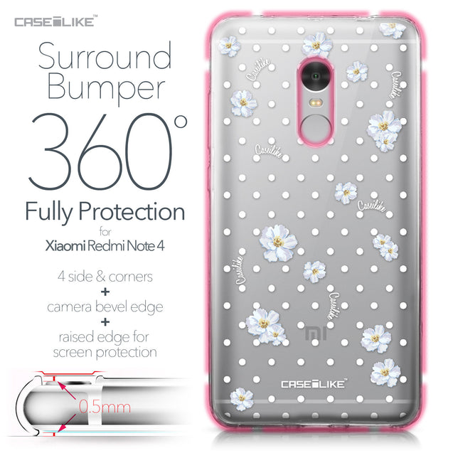 Xiaomi Redmi Note 4 case Watercolor Floral 2235 Bumper Case Protection | CASEiLIKE.com