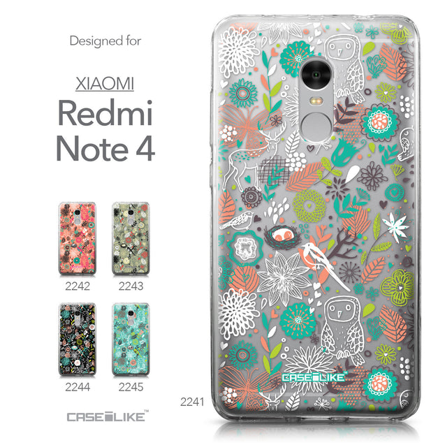 Xiaomi Redmi Note 4 case Spring Forest White 2241 Collection | CASEiLIKE.com