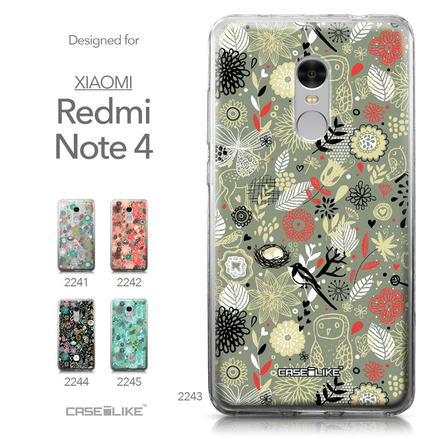 Xiaomi Redmi Note 4 case Spring Forest Gray 2243 Collection | CASEiLIKE.com