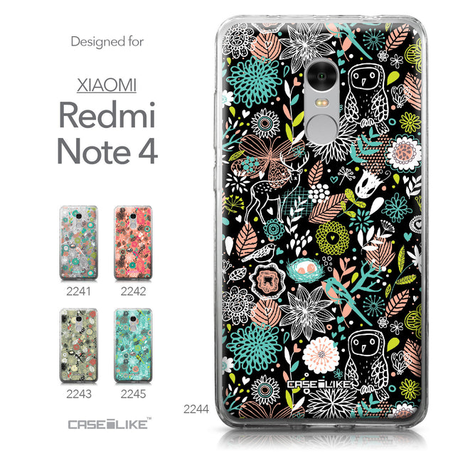 Xiaomi Redmi Note 4 case Spring Forest Black 2244 Collection | CASEiLIKE.com