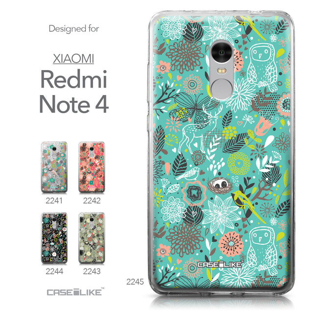 Xiaomi Redmi Note 4 case Spring Forest Turquoise 2245 Collection | CASEiLIKE.com