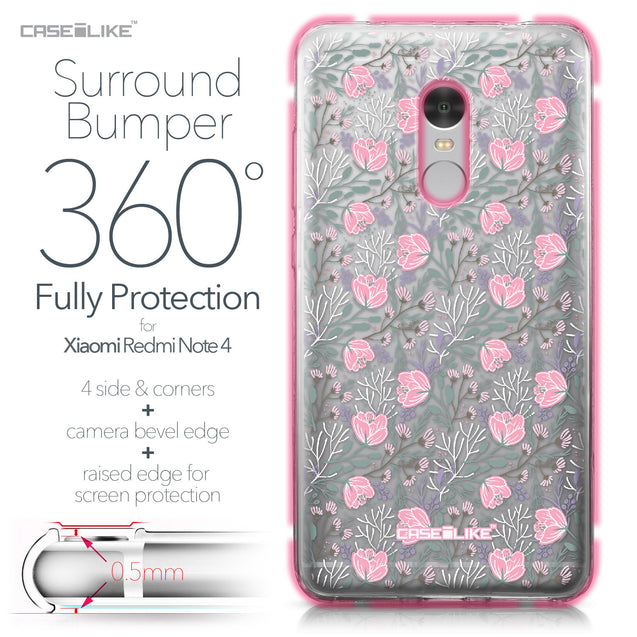 Xiaomi Redmi Note 4 case Flowers Herbs 2246 Bumper Case Protection | CASEiLIKE.com