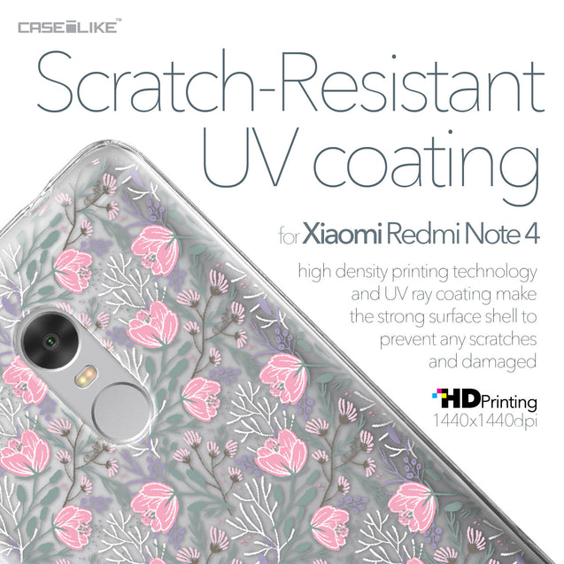 Xiaomi Redmi Note 4 case Flowers Herbs 2246 with UV-Coating Scratch-Resistant Case | CASEiLIKE.com