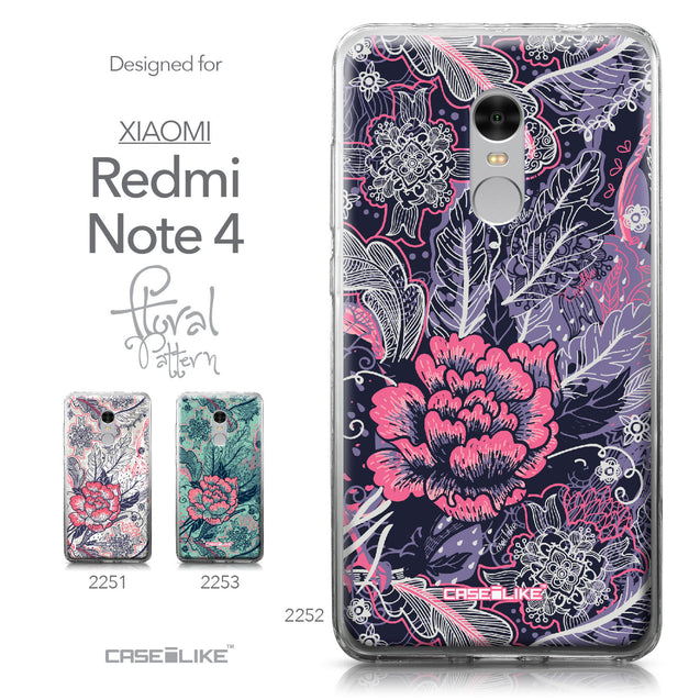 Xiaomi Redmi Note 4 case Vintage Roses and Feathers Blue 2252 Collection | CASEiLIKE.com