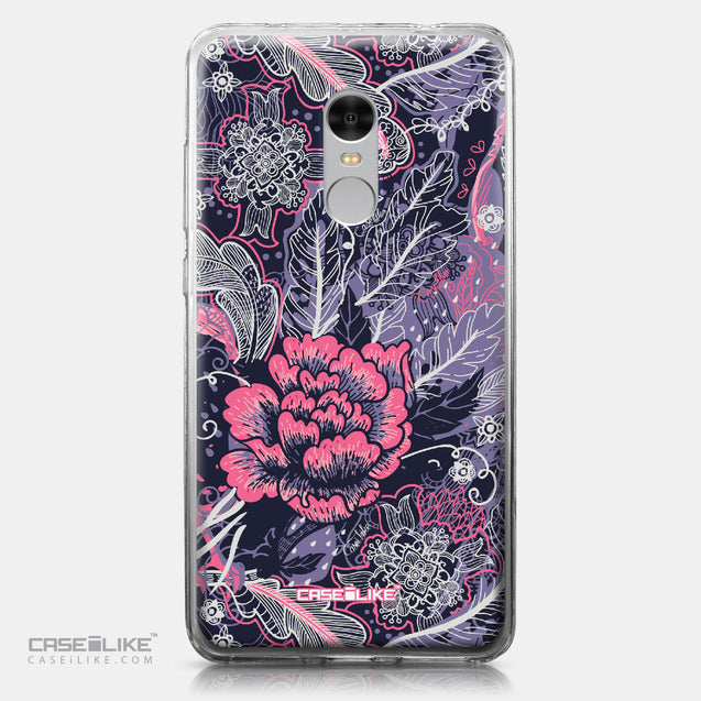 Xiaomi Redmi Note 4 case Vintage Roses and Feathers Blue 2252 | CASEiLIKE.com