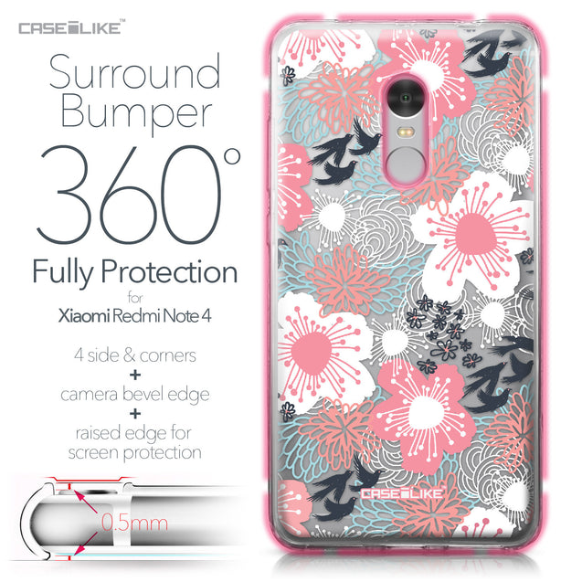 Xiaomi Redmi Note 4 case Japanese Floral 2255 Bumper Case Protection | CASEiLIKE.com