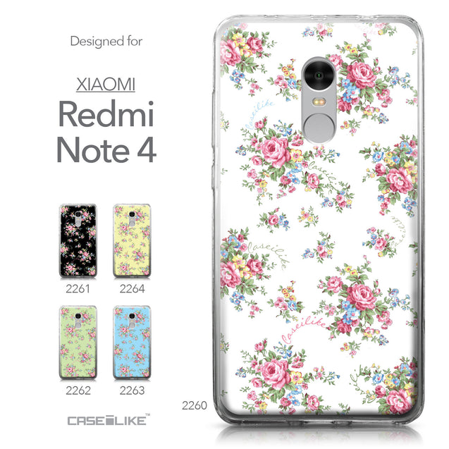 Xiaomi Redmi Note 4 case Floral Rose Classic 2260 Collection | CASEiLIKE.com