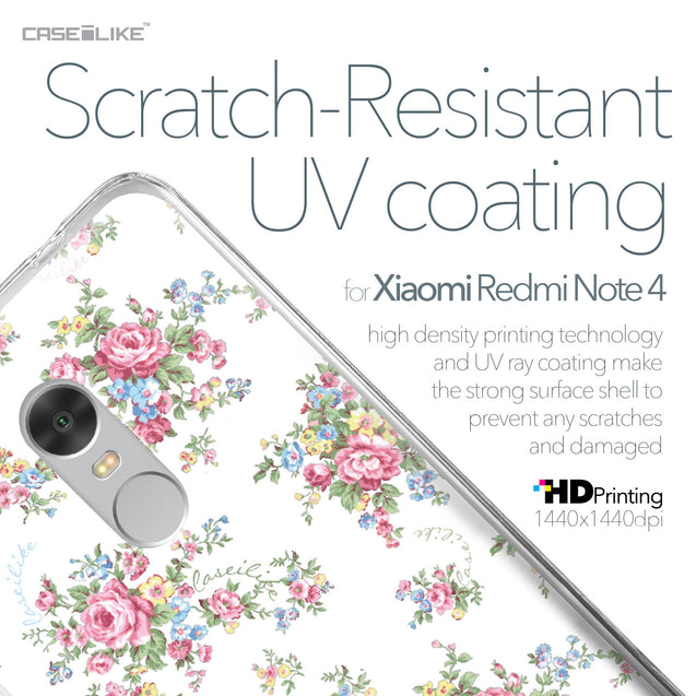 Xiaomi Redmi Note 4 case Floral Rose Classic 2260 with UV-Coating Scratch-Resistant Case | CASEiLIKE.com