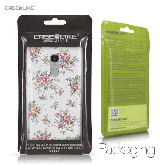 Xiaomi Redmi Note 4 case Floral Rose Classic 2260 Retail Packaging | CASEiLIKE.com