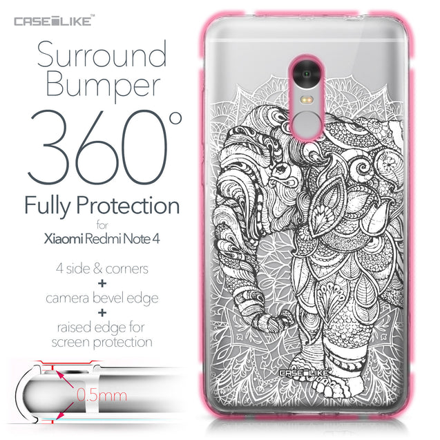 Xiaomi Redmi Note 4 case Mandala Art 2300 Bumper Case Protection | CASEiLIKE.com