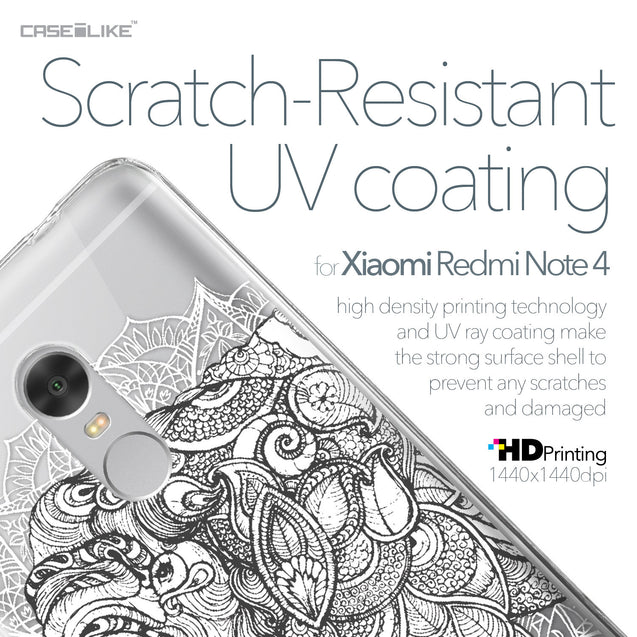 Xiaomi Redmi Note 4 case Mandala Art 2300 with UV-Coating Scratch-Resistant Case | CASEiLIKE.com