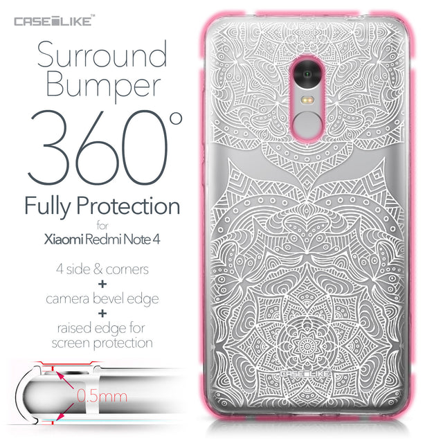 Xiaomi Redmi Note 4 case Mandala Art 2303 Bumper Case Protection | CASEiLIKE.com