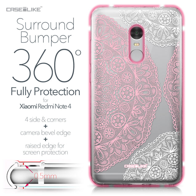 Xiaomi Redmi Note 4 case Mandala Art 2305 Bumper Case Protection | CASEiLIKE.com