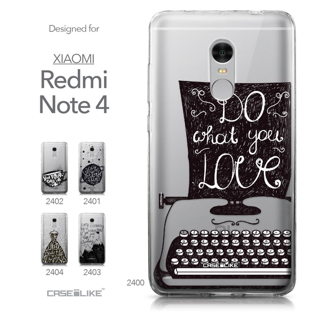 Xiaomi Redmi Note 4 case Quote 2400 Collection | CASEiLIKE.com