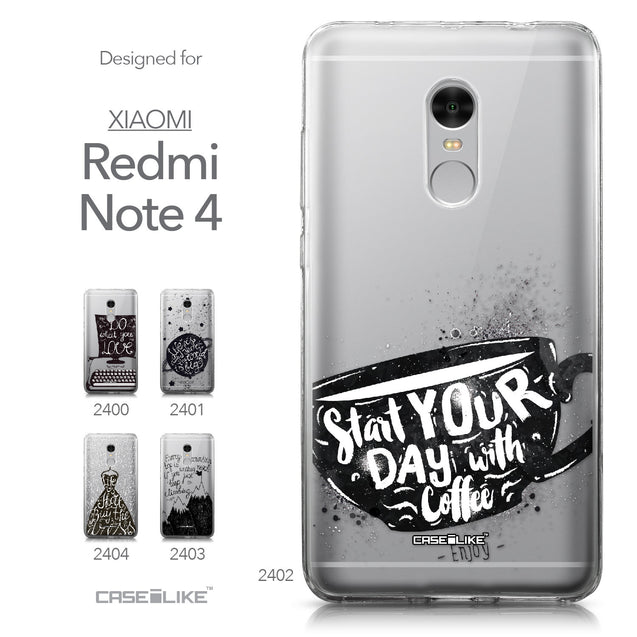 Xiaomi Redmi Note 4 case Quote 2402 Collection | CASEiLIKE.com