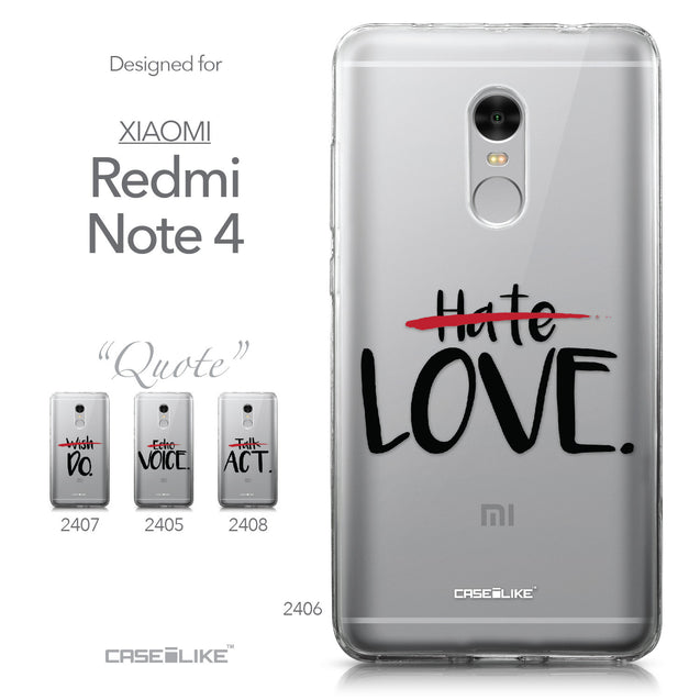 Xiaomi Redmi Note 4 case Quote 2406 Collection | CASEiLIKE.com