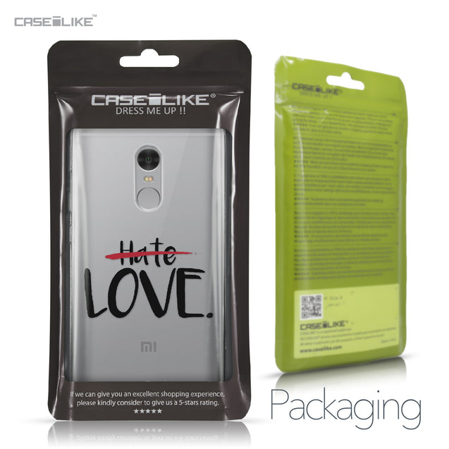 Xiaomi Redmi Note 4 case Quote 2406 Retail Packaging | CASEiLIKE.com