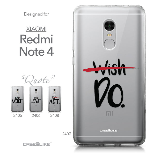 Xiaomi Redmi Note 4 case Quote 2407 Collection | CASEiLIKE.com