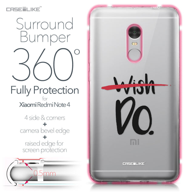 Xiaomi Redmi Note 4 case Quote 2407 Bumper Case Protection | CASEiLIKE.com