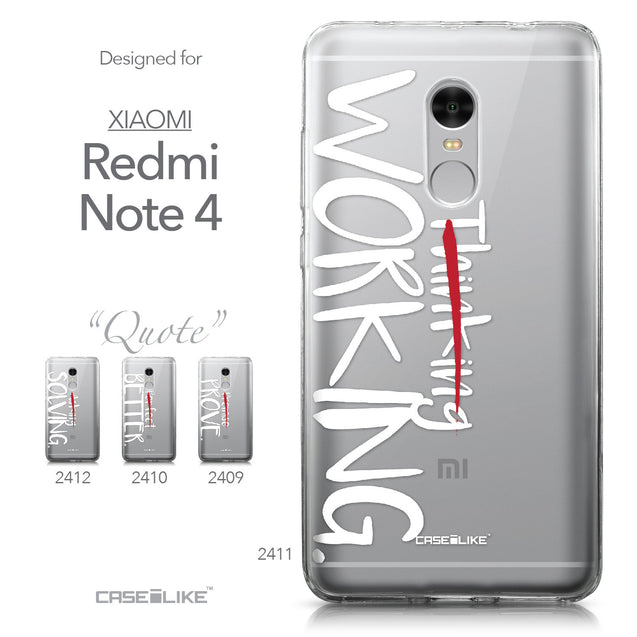 Xiaomi Redmi Note 4 case Quote 2411 Collection | CASEiLIKE.com