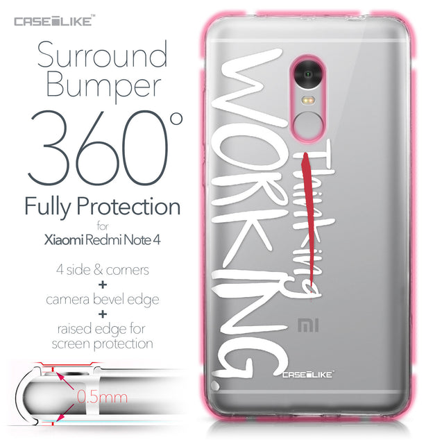 Xiaomi Redmi Note 4 case Quote 2411 Bumper Case Protection | CASEiLIKE.com