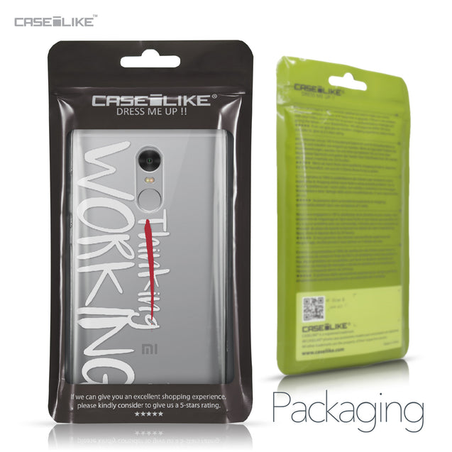 Xiaomi Redmi Note 4 case Quote 2411 Retail Packaging | CASEiLIKE.com