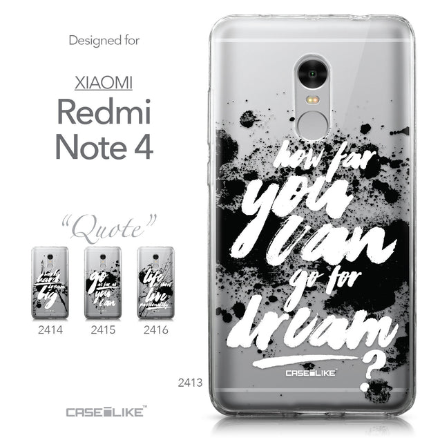 Xiaomi Redmi Note 4 case Quote 2413 Collection | CASEiLIKE.com