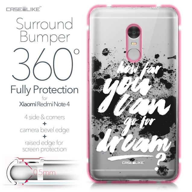 Xiaomi Redmi Note 4 case Quote 2413 Bumper Case Protection | CASEiLIKE.com
